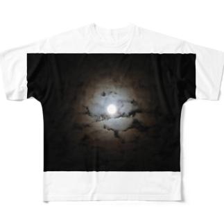 月夜 Full graphic T-shirts