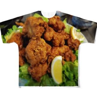 唐揚げ Full graphic T-shirts