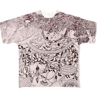 ふゆのひ Full graphic T-shirts