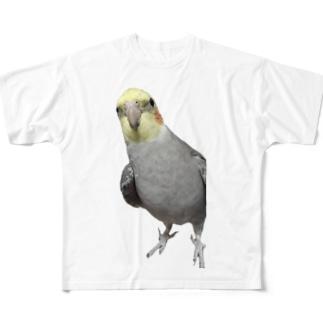 オカメインコのベリー Full graphic T-shirts