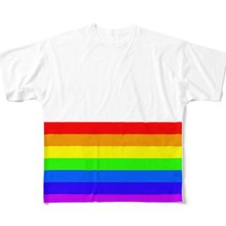 虹色 Full graphic T-shirts