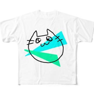 らくがきねこ Full graphic T-shirts