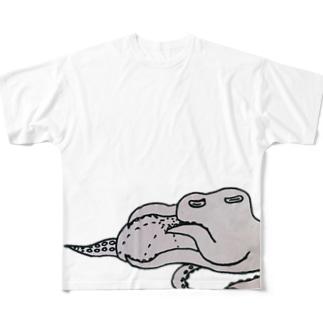 マクラタコ図 Full graphic T-shirts
