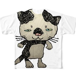 ブネコ1 Full graphic T-shirts