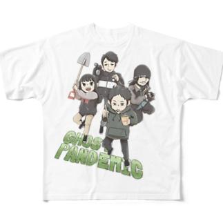 心霊~パンデミック~イラスト カラーVer Full graphic T-shirts
