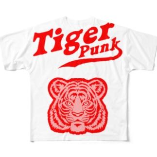 Tiger Punk Full graphic T-shirts