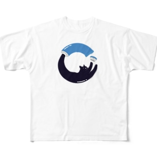 Cat from tube Full graphic T-shirts