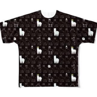 ドシパカ総柄 フルグラフィックTシャツ