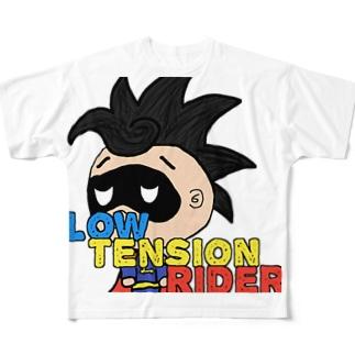 ろ~てんしょんらいだ~ Full graphic T-shirts
