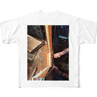 畳の断面 Full graphic T-shirts