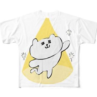 スポットライトねこ Full graphic T-shirts
