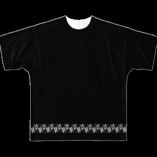 nanashi_の全身黒コーデのワンポイントに Full graphic T-shirts