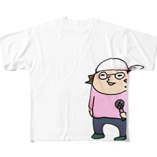 「ちょっと失礼します」ひげおやじフルグラT Full graphic T-shirts