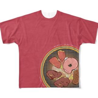 フルグラ七輪T Full graphic T-shirts