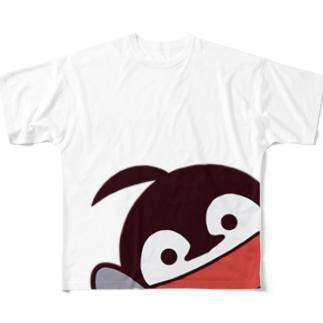 焼きパンショップの全身焼きペン Full graphic T-shirts