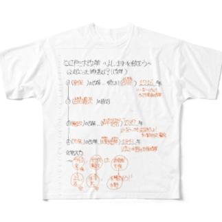 三大改革覚えるクン Full graphic T-shirts