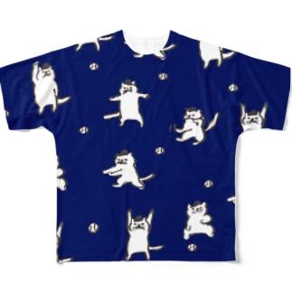 ねこ審判ナイターバージョン All-Over Print T-Shirt