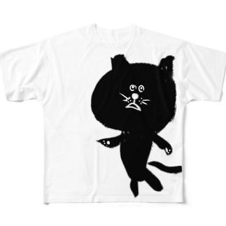 筆猫-fudeneko- Full graphic T-shirts
