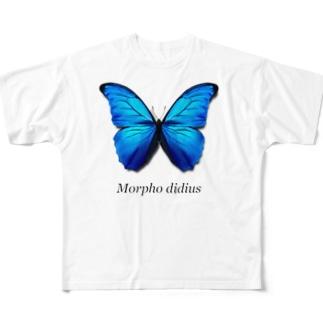 モルフォ蝶 Full Graphic T-Shirt