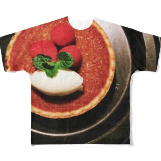 なんでもないケーキの風景「蜂蜜タルト」 Full graphic T-shirts