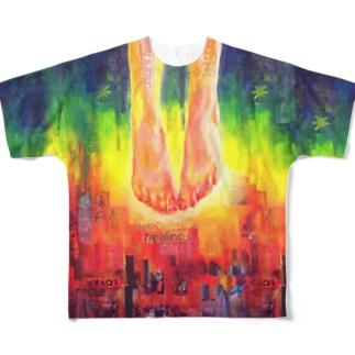 ゆえに都市にキュン死する Full graphic T-shirts