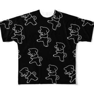 カンフー犬シャツ Full graphic T-shirts