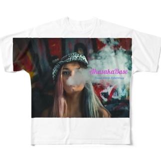 Smoke Girls 01 Full graphic T-shirts