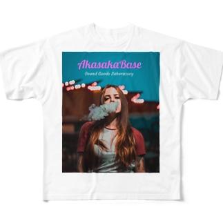 Smoke Girls 03 Full graphic T-shirts