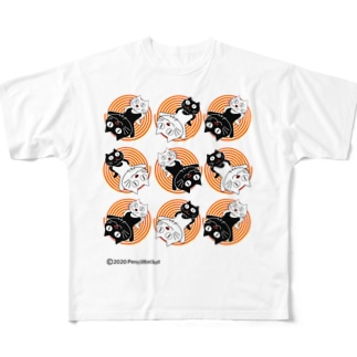 ネコ兄弟 tXTC_68 Full graphic T-shirts