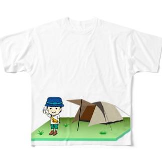 キャンプのできるフェス Full graphic T-shirts