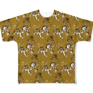 龍 パターンからし Full graphic T-shirts