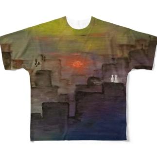 不確 Full graphic T-shirts