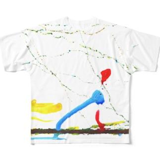 娘の描いた絵 Full graphic T-shirts