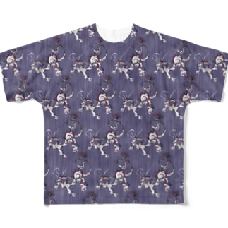 龍 パターン藤 Full graphic T-shirts
