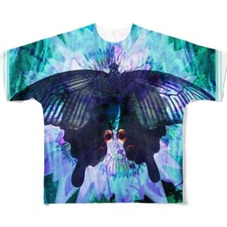 クロアゲハII Full graphic T-shirts