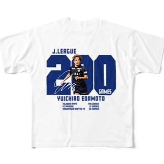 枝本雄一郎 選手 Jリーグ通算200試合出場達成記念 Full graphic T-shirts