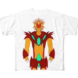 炎竜皇ブリガーゼ・ドラゴン(えんりゅうおう-) Full graphic T-shirts