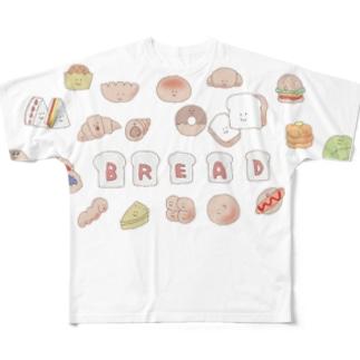 なかよしパン屋さん Full graphic T-shirts