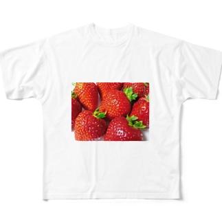 いちご Full graphic T-shirts