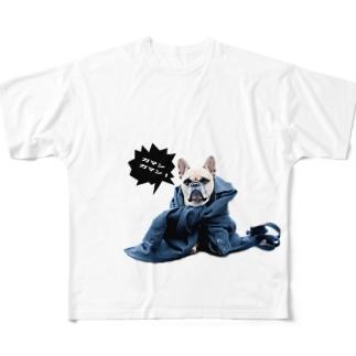 ガマン Full graphic T-shirts