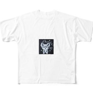 ヨークシャテリア Full graphic T-shirts