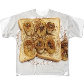ふりふり焼きバナナ🍌 Ongakus photo goods Full graphic T-shirts