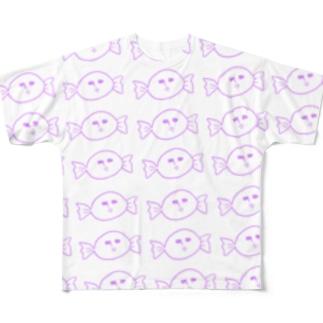 Mr.キャンディー いっぱい Full graphic T-shirts