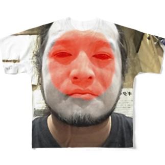Pray For Japan おじさん Full graphic T-shirts