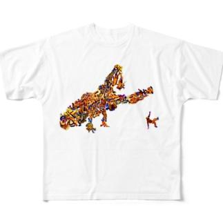 ブレイクダンサー Full graphic T-shirts