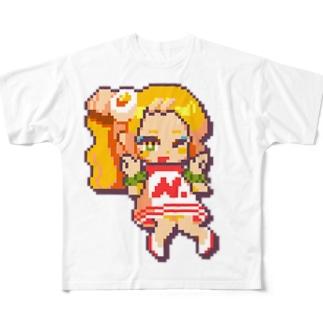 にく、ましましで。のドット絵肉山さん Full Graphic T-Shirt