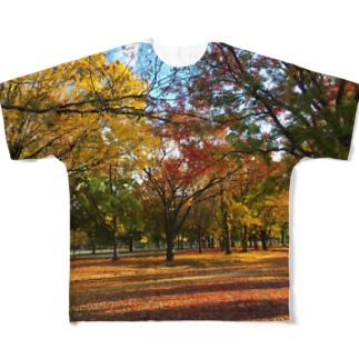 千種公園ー!!!紅葉の高揚! Full graphic T-shirts