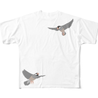 Flying birds Full graphic T-shirts