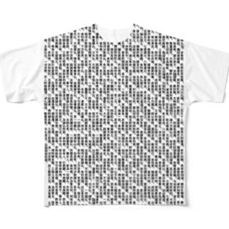 阿弥陀経Tシャツ-シハンドキショウ Full graphic T-shirts