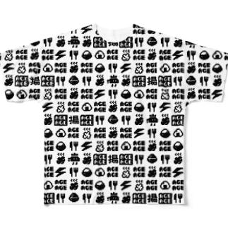 ドットアゲパターン Full graphic T-shirts